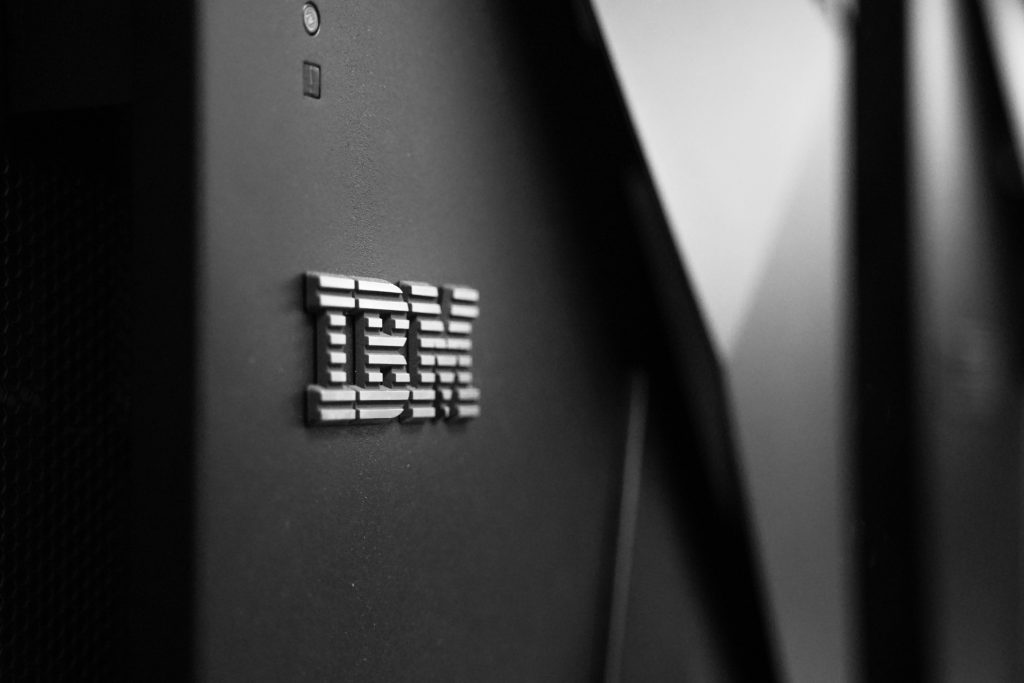 IBM Logo on a Computer